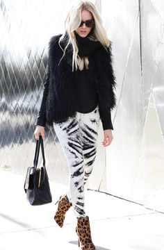 Seeing Doubles ( Animal Print Suede Booties & Ankle boots & Leather Totes )