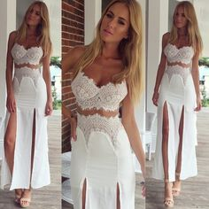 Cassidy Maxi Dress Brand new never worn. White maxi dress from Mura Boutique. Size small but fits 2-4 Dresses Maxi