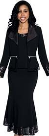 Nubiano N93473 Womens Three Piece Church Suit