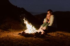 campfire couple session by katch silva