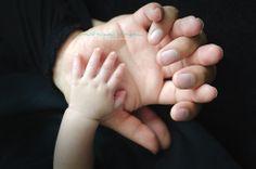 Baby newborn little hands