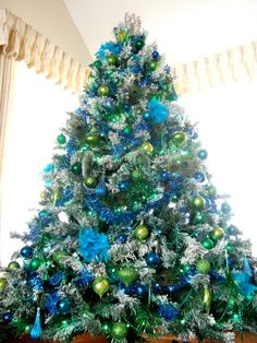 Tree Peacock Christmas ~ Visit jacobsfamblog.blogspot.com