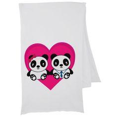 Pandas in Love Scarf Wrap