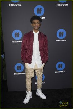 Olivia Holt's New Show 'Marvel's Cloak & Dagger' To Make Premiere on June Photo Olivia Holt and Aubrey Joseph serve up some looks at the first annual Freeform Summit on Thursday night (January in Los Angeles. Aubrey Joseph, Cloak And Dagger, Olivia Holt, Just Jared, Marvel Dc Comics, New Shows, Photo Galleries, How To Look Better, Bomber Jacket