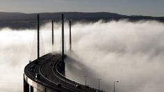 - A temperature inversion at the Kessock Bridge meant Inverness was completely obscured. Photo by Eric Skea from North Kessock. Inverness Scotland, Misty Day, Cultural Capital, Scottish Highlands, British Isles, Homeland, East Coast, Old Town, Niagara Falls