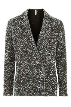 Discover the latest in women's fashion and new season trends at Topshop. Shop must-have dresses, coats, shoes and more. Blazers, Sequin Blazer, Double Breasted Jacket, Silver Sequin, Asos, Topshop, Sequins, Polyvore, How To Wear