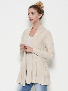 ?To be perfectly honest, this is perfectly wonderful for all the cuddle up occasions and then some! With jeans and t-shirt or over a pencil skirt and blouse, you will feel wrapped up in a hug all day in this super soft cozy chenille swea...