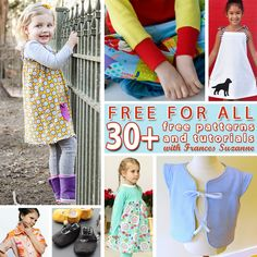 """30+ FREE Children's Sewing Patterns 
