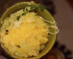 Creamy Polenta with Parmesan and Thyme