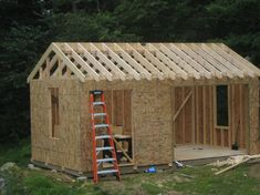 Free Loafing Shed Plans For Horses Diy Storage Building, Building A Shed Roof, Diy Storage Shed Plans, Outdoor Storage Sheds, Outdoor Sheds, Built In Storage, Roof Storage, Bike Storage, Building Ideas