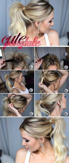 16 Cute Ponytail Hairstyles Videos To Charge Your Look With Radiance – summer hairstyles Ponytail Hairstyles Tutorial, High Ponytail Hairstyles, Everyday Hairstyles, Summer Hairstyles, Diy Hairstyles, Ponytail Ideas, Hairstyle Ideas, Ponytail Tutorial, Messy Ponytail