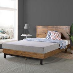Shop Carbon Loft Sollano Wood Platform Bed - On Sale - Overstock - 26855835 - Twin Bedroom Furniture Stores, Furniture Deals, Wood Furniture, Furniture Outlet, Online Furniture, Wood Headboard, Headboard And Footboard, Headboards For Beds, Headboard Ideas