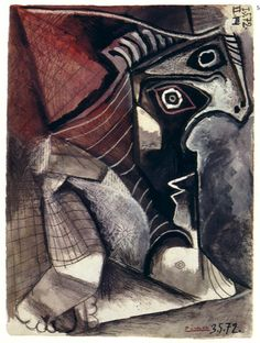 Artwork Zoom - On-line Picasso Project Picasso Cubism, Picasso Drawing, Picasso Paintings, Picasso And Braque, Human Painting, Cubist Movement, Stone Gallery, Guernica, Georges Braque
