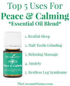 Peace and Calming essential oil is a blend made with tangerine, orange, ylang ylang, patchouli and blue tansy essential oils. When diffused, it helps calm. Blue Tansy Essential Oil, Patchouli Essential Oil, Essential Oil Diffuser Blends, Natural Essential Oils, Young Living Oils, Young Living Essential Oils, Ylang Ylang Öl, Massage, Oil Benefits