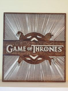 Game of Thrones logo string art 24x22 inches