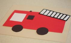 fire truck craft  |   Crafts and Worksheets for Preschool,Toddler and Kindergarten