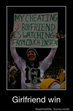 Notice that she is indeed a packer fan...shows how brilliant they are ;)