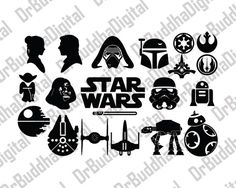 Star Wars SVG Collection - Star Wars DXF - Star Wars Clipart - fichiers SVG pour Cameo Silhouette ou Cricut