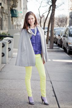 Crissie in neon Madewell jeans!