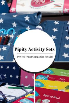 Pipity Activity Sets I haven't even mentioned the activity books yet. The activity sets come with one activity book included that you can tear off sheets from and attach with the elastic strips, or the straps do keep the whole book in too; perfect for moving buses, cars, trains or planes. These activity sheets include all sorts of different activities and I can't imagine we could run out on one trip. However if you think you might, you can buy additional books (£4,99 each), I think the dress…