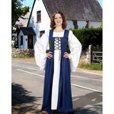 Fair Maiden's Dress Blue-Medieval dresses