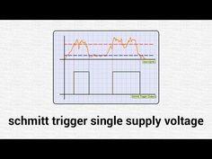 Breadboard Schmitt Trigger 5V Supply Voltage - YouTube