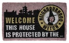Protected by the Neighbourhood Witch Coir Doormat