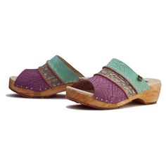 Mixed color clog for lovely summer days. Yggdrasil Wood line. http://www.elnaturalista.com/en/woman/n176-trufa-mixed-vaquero-yggdrasil-wood.html