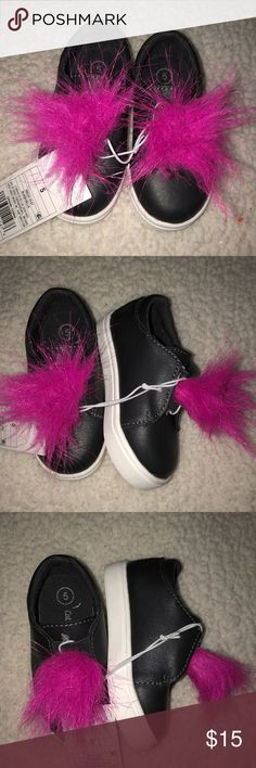 Toddler girl shoes Black & pink toddler girl shows. NWT, never worn Shoes Sneakers