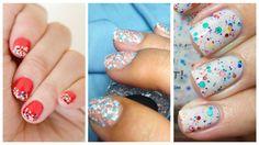 Manicura Confeti – 40 ejemplos | Decoración de Uñas - Manicura y Nail Art