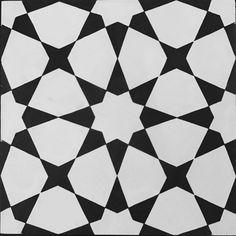 Cement tile including Moroccan tile, black and white tile, encaustic tile, square tile, modern tile, and patterned tile. Shop Riad for premium handmade tile.