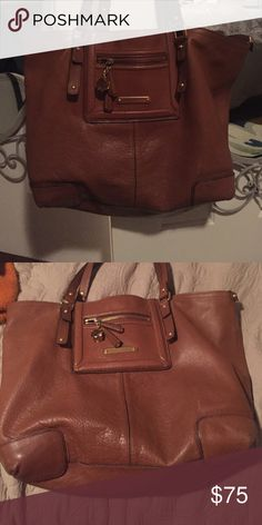 Juicy Couture Light brown tote bag In great shape. Big open bag inside. Juicy Couture Bags Totes
