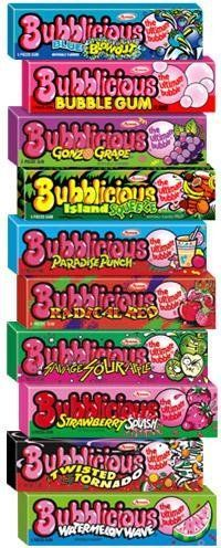 Bubblicious -won the bubble gum blowing contest in grade with 3 pieces and a team effort chewing the gum to exact stage ripeness ; 90s Childhood, My Childhood Memories, Sweet Memories, Bubblicious Gum, Lisa Frank, Bonbons Vintage, Bubble Yum, 90s Nostalgia, I Remember When
