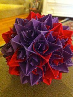 Paper Centerpiece Purple and Red Star Pattern by ArtRunsDeep, $8.99