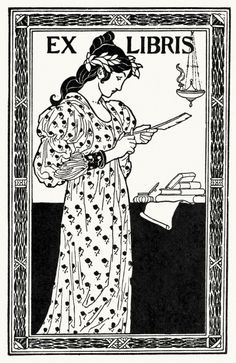 Bookplate project, from A collection of book plate designs, by Louis Rhead, Boston, 1907