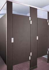 its creepy to sit in a toilet stall that other people can see inside this is why we carry commercial solid plastic no site partitions - Commercial Bathroom Partitions