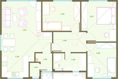 Low energy House PICEA #house #building #architecture Building Architecture, House Building, Floor Plans, Projects, Building Homes, Log Projects, Blue Prints, Floor Plan Drawing, House Floor Plans