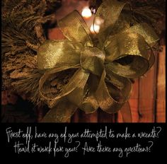 How-to-make-a-bow for a wreath