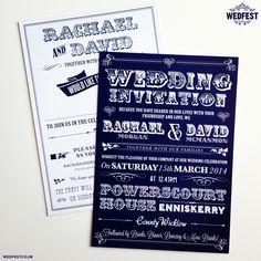 Typography Wedding Invitations http://www.wedfest.co/typography-wedding-invitations/