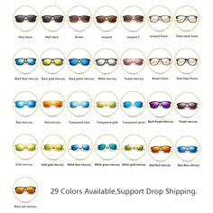 Bamboo Wood Retro Designed Sunglasses for Men and Women Sport Fashion Sunglasses Wooden Sunglasses, Retro Sunglasses, Mirrored Sunglasses, Sunglasses Women, Polarized Sunglasses, Free Glasses, Bamboo Box, Womens Glasses, Women Brands
