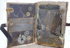 Steampunk Altered Book - Wow!