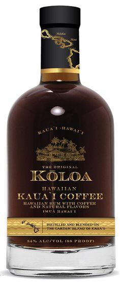 Koloa Rum Made with Kauai Dark Roast Coffee. New product!