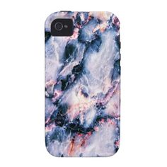 Cool Marble Texture blue pink white Case-Mate iPhone 4 Cases $44.95