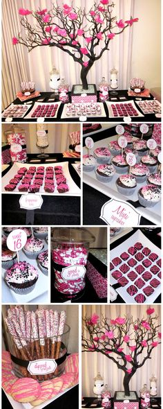 Cool Sweet 16 Party Ideas – Fun and Helpful Sweet Sixteen Party Ideas Sweet 16 Birthday, 16th Birthday, Birthday Parties, Sixteenth Birthday, Birthday Ideas, Dessert Buffet, Dessert Bars, Dessert Tables, Candy Buffet Tables