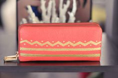 Cool DIY Sharpie Crafts Projects Ideas - Patterned Painted Leather Wallet