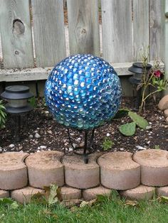 gazing ball from bowling ball