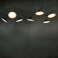 Lustre moons ceiling light noir led l100cm h40cm nir meiri normal