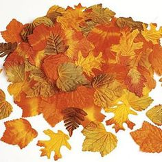 loose fall leaves to decorate tables. I've used this company for Kraig's wedding and our 25th very inexpensive. Nice quality.