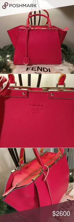 Authentic Fendi 3 Jour Medium Bag Offers welcomed Never worn!!!Beautiful Fendi Classic Bag. Authentication Cards and dust bag included. Fendi Bags