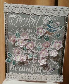 Heartfelt creations vellum card